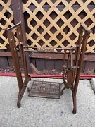 Rare 50s Singer Treadle Sewing Machine Cast Iron Base Stand Table Shabby Chic