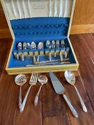Holmes Edwards Romance Inland Silver Serving Wear Dining Set 1847 Rogers Bro Box