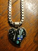 Vintage Frank Yellowhorse Necklace Pendant Sterling Navajo Authentic