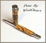 Pen Handmade Writing Ball Point Fountain Olive Wood Pens See Video 1279