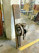 Antique Drill Press Champion Blower And Forge Co. Hand Crank Cast Iron Industry