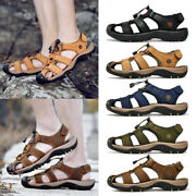 Mens Womens Mules Sandals Sports Genuine Leather Outdoor Closed Toe Non-slip Us