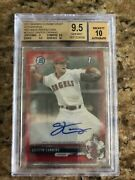 2017 Bowman Chrome Griffin Canning Red Wave /5 Auto Refractor Bgs 9.5 / 10 Pop 1