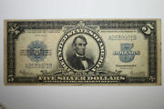 1923 5 Silver Certificate Lincoln Porthole Currency Grading Fine Stock 267