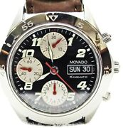 New Men's Movado Kingmatic Watch, Valjoux 7750 Automatic Chronograph, 40mm