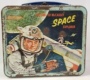 Vintage 1960 Colonel Ed Mccauley Lunch Box And Thermos Us Air Force Space Explorer