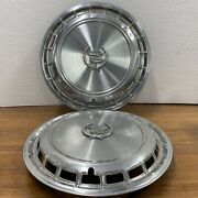 Vintage Cadillac Oem 15 Hubcaps Set Of 2 Wheel Covers 1987-88 Old Logo Used