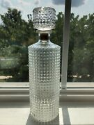 Vintage Thatcher Glass 1959 Hobnail Clear Pressed Glass Whiskey Decanter 12andrdquo