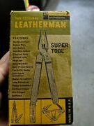 Vtg Leatherman Super Tool Made In Usa Sheath Original Box And Papers
