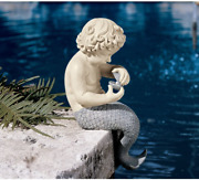 Small Outdoor Garden Statues Outside Pond Decoration Ocean Little Treasure Pool