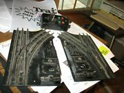 Lionel 1122 O27 L/r Switches Black, Used, Cleaned, Guarn. 30 Days