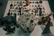 Star Wars 53 Action Figures And Space Ships Lot And03995-and03997 Vintage