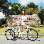 24 Adult Tricycle Trike With Large Size Basket For Shoppingandouting Cruiser Bike