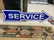Ford Service Arrow Large Double Sided Porcelain Sign 48x 12 Near Mint