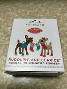 2021 Hallmark Mini Rudolph The Red-nosed Reindeer Rudolph And Clarice Ornaments