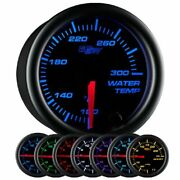 Glowshift Black 7 Color 300 F Water Coolant Temperature Gauge Kit - Includes ...
