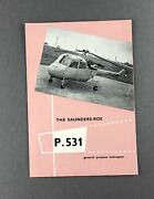 Saunders Roe P.531 Helicopter Manufacturers Sales Brochure Saro