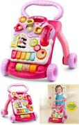 Vtech Baby Push Walker Toddler Interactive Learning Toy Sit-to-stand Pink