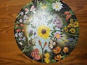 Springbok Wild Flowers Circular Puzzle -vintage, 1965 - Tested And Complete Round