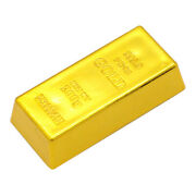 1pcs Fake Fine Gold Bar Bullion Paperweight 2and039and039 Movie Jewellery Display Props