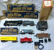 Vintage 1950s Gilbert American Flyer Train 3/16 Scale With Accessories