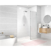 Alcove Shower Door 21 In. X 78 In. Single Panel Frameless Clear Tempered Glass