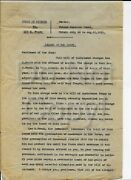 Leo Frank Trial Documents - Mary Phagan - Charge Of The Court. Drafts