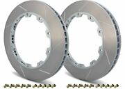 Girodisc Rear 2pc Rotor Ring Replacements For 14-18 Mercedes S63 S65 Amg W222