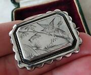 Antique Victorian Silver Aesthetic Movement Brooch Pin Victorian Arts And Crafts
