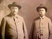 Mounted Paper Photo 2 Identified Confederate Veterans Posing W/medals Charlotte
