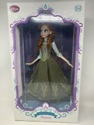 Disney Store Limited Edition Doll Anna 17 Le 1802/5000 Frozen Green Dress New