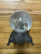 """Vintage 10"""" Department 56 A Christmas Carol Musical Snow Globe Scrooge And Marley"""