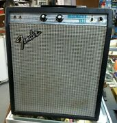 Old Vintage Fender Musicmaster Bass Tube Guitar Amp S A09916 Usa Silverface