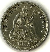 1853 Seated Liberty Half Dime Uncirculated Pretty Toning Uncertified