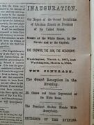 Civil War Newspapers- Lincolnand039s 2nd Inauguration Complete Details Of The Day