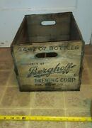 Berghoff Beer Products Wood Crate Case Fort Wayne In. Prohibition Era. Vtg 1920s