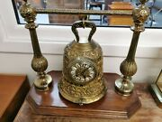 Rare Antique French Brass Bell-shaped Clock Stunning Item