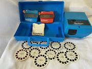 Lot Of View Master 2 Viewers Collector Case Projector 11 Reels