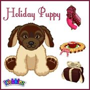 Webkinz Holiday Puppy And Holiday Silver Reindeer