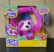 Rollo The Sloth Little Live Pets I Repeat What You Say Tumbles And Rolls Pink New
