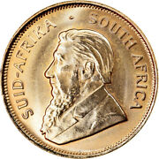 [891611] Coin South Africa 1/2 Krugerrand 1984 Ms65-70 Gold Km107
