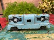 Antique Wind Up Toys Original Old Rare Tin Litho Star Train Toy