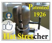 Antique Hat Stretcher Rare Original French Design Millinery Solid Wood 1920and039s