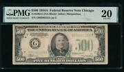 Ac 1934a 500 Five Hundred Dollar Bill Chicago Pmg 20 Comment