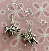 Brighton I Love My Dog Poodle French Fifi Pet Puppy Custom Silver Earrings