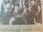 Newspapers- Jfk Inauguration Millions Watch Inaugural Parade D.c.paper Day Of