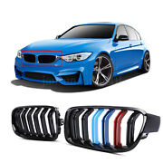 Front Bumber Hood Kidney M-color Grille Grill For Bmw 3 Series M3 F30 2013-2017