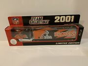 2001 Cleveland Browns Nfl Licensed Tractor Trailer Limited Edition Fleer New