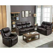 Pu Leather Reclining Sofa Set Couch Furniture Lounge Chair For Home Or Office
