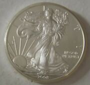 2008 American Silver Eagle Dollar - Nice Bu Condition In Kointain Capsule 102